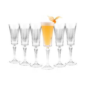 RCR 25874020006 Timeless Crystal Glassware Timeless Champagne Flutes Glasses, Set of 6 Thumbnail 6