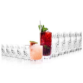 RCR COMBO-2065 Oasis Crystal Set of 6 Whisky Tumblers and Set of 6 Hi-Ball Glasses Thumbnail 2