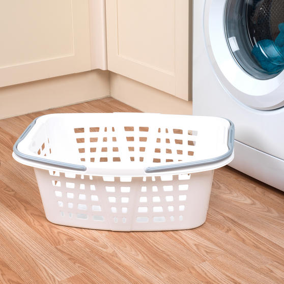 Beldray Plastic Laundry Baskets with Handles, Set of 4, Turquoise/White Thumbnail 8