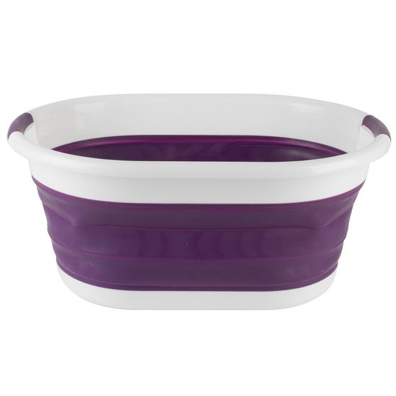 Beldray Purple Collapsible Laundry Washing Basket with 20 XL Soft Grip Pegs Thumbnail 5