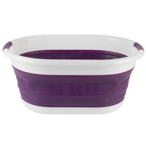 Beldray COMBO-3165 Purple Collapsible Laundry Washing Basket with 20 XL Soft Grip Pegs Thumbnail 5