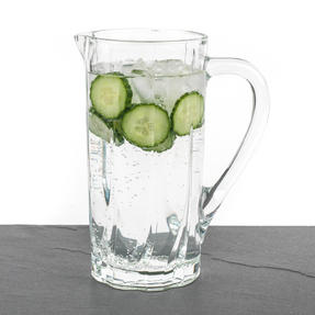 RCR COMBO-3108 Twist Crystal Collection Glass Water and Cocktail Jug with Decorative Fruit Bowl Thumbnail 2