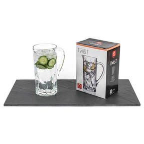 RCR COMBO-3108 Twist Crystal Collection Glass Water and Cocktail Jug with Decorative Fruit Bowl Thumbnail 7