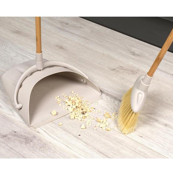 Beldray Long Handled Dustpan and Brush Set, Bamboo Thumbnail 3