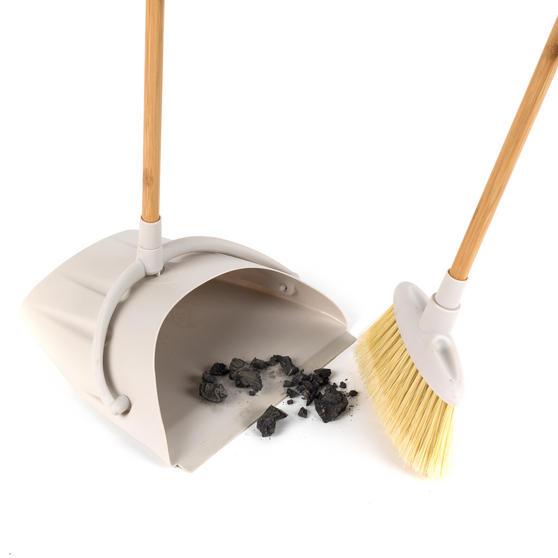 Beldray Long Handled Dustpan and Brush Set, Bamboo Thumbnail 4