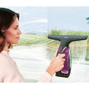 AEG WX760V1 Rechargeable Window Vacuum with Cleaning Cloth and Spray Bottle, Vivid Viola Thumbnail 5