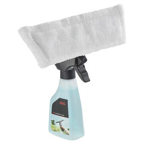 AEG WX790A3 Rechargeable Window Vacuum with Cleaning Cloth and Spray Bottle, Aqua Spray Thumbnail 2