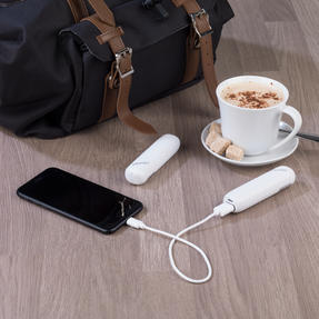 Intempo COMBO-3053 Power Banks for Smartphones, MP3 Players and More, 2000mAh, White, Set of 2 Thumbnail 3