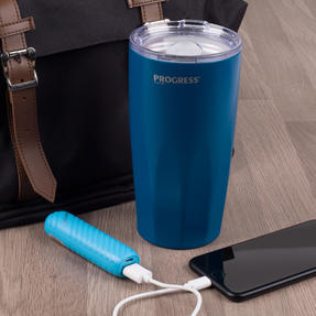Commuter Accessories COMBO-3055 Intempo Bluetooth Metallic Look Earphones with Blue Power Bank and Progress Travel Mug Thumbnail 3