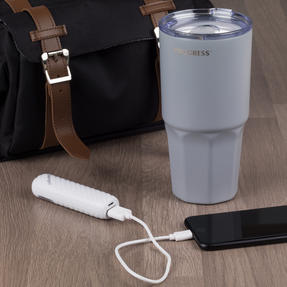 Commuter Accessories COMBO-3056 Intempo Bluetooth Metallic Look Earphones with White Power Bank and Progress Travel Mug Thumbnail 3