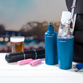Festival / Picnic Pack COMBO-3060 with LED BT Capsule Speaker, Pink Power Banks, Travel Cup and Insulated Bottle Thumbnail 5