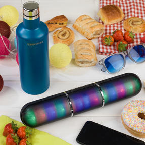 Festival / Picnic Pack COMBO-3060 with LED BT Capsule Speaker, Pink Power Banks, Travel Cup and Insulated Bottle Thumbnail 9