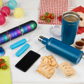 Festival / Picnic Pack COMBO-3061 with LED BT Capsule Speaker, Blue Power Banks, Travel Cup and Insulated Bottle Thumbnail 4
