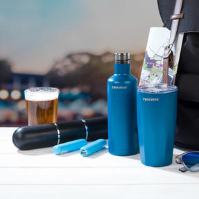 Festival / Picnic Pack COMBO-3061 with LED BT Capsule Speaker, Blue Power Banks, Travel Cup and Insulated Bottle Thumbnail 5
