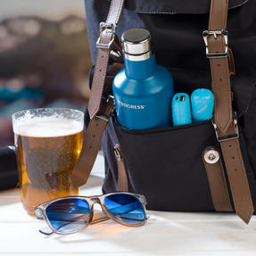 Festival / Picnic Pack COMBO-3061 with LED BT Capsule Speaker, Blue Power Banks, Travel Cup and Insulated Bottle Thumbnail 6