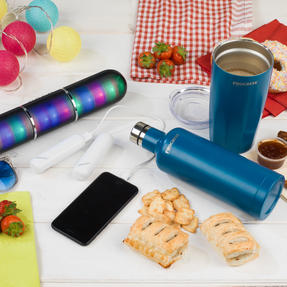 Festival / Picnic Pack COMBO-3062 with LED BT Capsule Speaker, White Power Banks, Travel Cup and Insulated Bottle Thumbnail 4