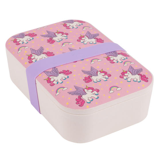 Cambridge Flying Unicorns Bamboo Eco Lunch Box