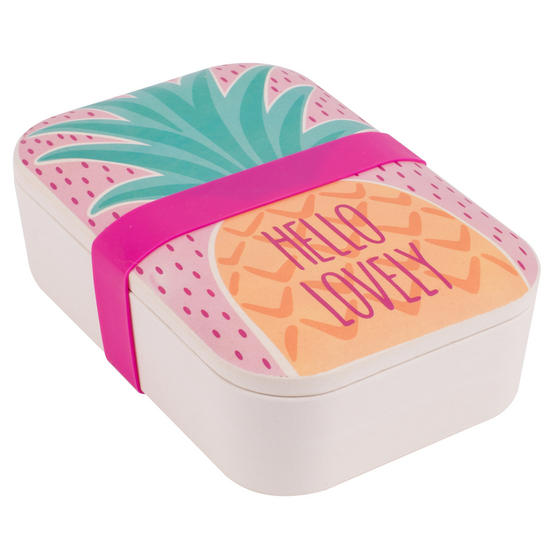 Cambridge CM06269 Hello Lovely Pineapple Reusable On-The-Go Lunch Box