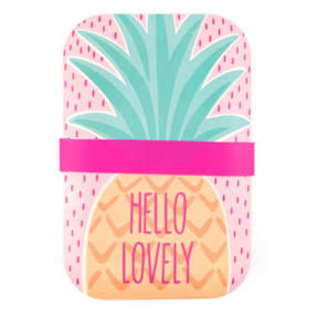 Cambridge CM06269 Hello Lovely Pineapple Reusable On-The-Go Lunch Box Thumbnail 4