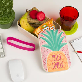Cambridge CM06269 Hello Lovely Pineapple Reusable On-The-Go Lunch Box Thumbnail 5