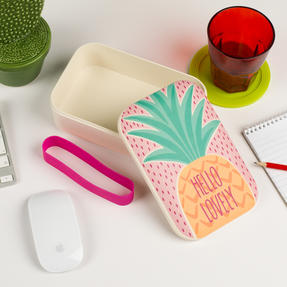 Cambridge CM06269 Hello Lovely Pineapple Reusable On-The-Go Lunch Box Thumbnail 6