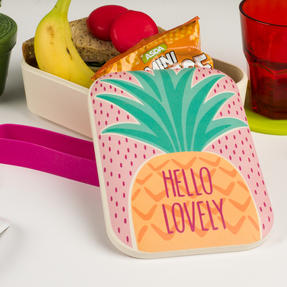 Cambridge CM06269 Hello Lovely Pineapple Reusable On-The-Go Lunch Box Thumbnail 7