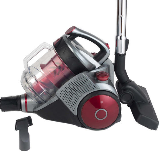 Beldray Ultra Quiet Multi Cyclonic Pet+ 2.8 L Vacuum Cleaner, Red / Grey Thumbnail 2
