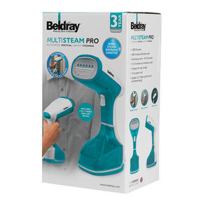 Beldray BEL0815 Portable Handheld Garment Clothing Steamer, 1200 W, Blue / Black Thumbnail 12