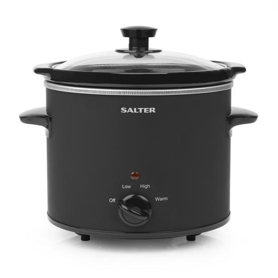 Salter EK2842 Chalkboard Slow Cooker with 6pcs of Chalk Included, 3.5 L, Black