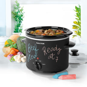 Salter EK2842 Chalkboard Slow Cooker with 6pcs of Chalk Included, 3.5 L, Black Thumbnail 2