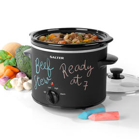 Salter Chalkboard Slow Cooker with 3pcs of Chalk Included, 3.5 L, Black Thumbnail 2