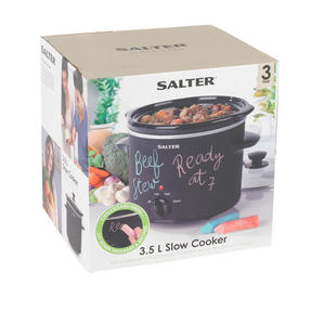 Salter Chalkboard Slow Cooker with 3pcs of Chalk Included, 3.5 L, Black Thumbnail 10