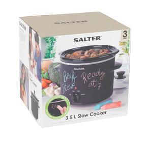 Salter EK2842 Chalkboard Slow Cooker with 6pcs of Chalk Included, 3.5 L, Black Thumbnail 10
