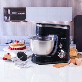 Beldray EK3007BAZ Stand Mixer with Whisk, Beater and Dough Hook Attachments, 800 W, Black Thumbnail 3