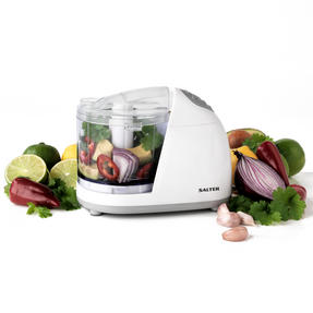 Salter EK2182 Mini Kitchen Chopper, 150 W, White Thumbnail 1