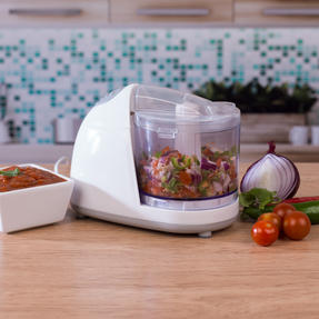 Salter EK2182 Mini Kitchen Chopper, 150 W, White Thumbnail 2