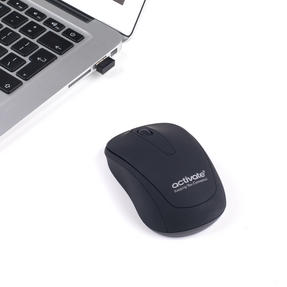 Activate EE3506BLKSTK Optical Tracking Wireless Mouse with USB Receiver, Black Thumbnail 3