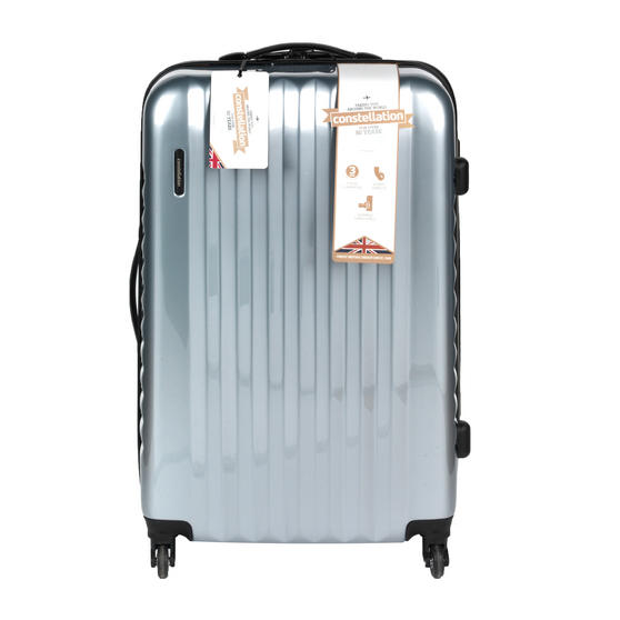 "Constellation LG00571LSILSDMIL Athena ABS Hard Shell Suitcase, 28"", Silver"
