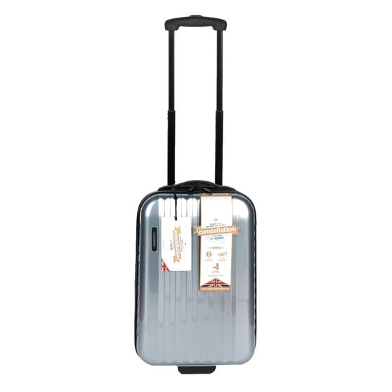 "Constellation Athena ABS Hard Shell Cabin Suitcase, 20"", Silver"