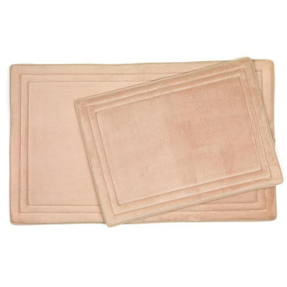 Beldray Memory Foam Bath and Shower Mat Set, Linen Beige Thumbnail 1