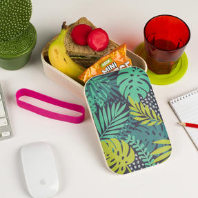 Cambridge COMBO-3081 Bamboo Lunch Goals Lunchbox Storage with 20oz Tropical Forest Travel Mug Thumbnail 4
