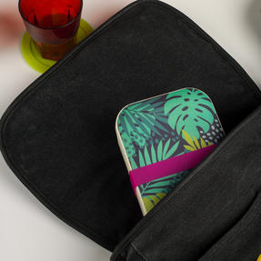 Cambridge COMBO-3081 Bamboo Lunch Goals Lunchbox Storage with 20oz Tropical Forest Travel Mug Thumbnail 8
