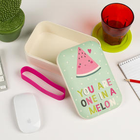 Cambridge COMBO-3082  Hello Lovely Pineapple and One In A Melon Reusable On-The-Go Lunch Box Storage, Set of 2 Thumbnail 9
