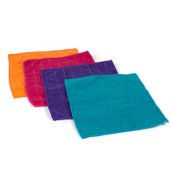 Beldray Microfibre Cleaning Dusting Cloths, Pack of 12, Assorted Colours