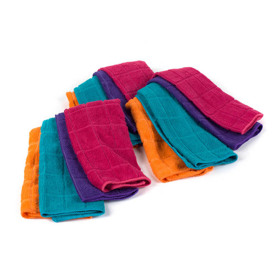Beldray Microfibre Cleaning Dusting Cloths, Pack of 24, Assorted Colours Thumbnail 1