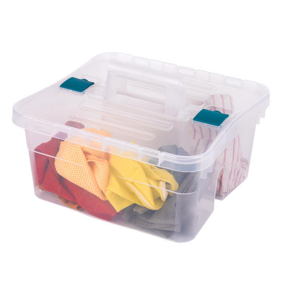 Beldray DIY, Hobby, Cleaning Caddy with Lid, Set of 3, Small / Large, Clear Thumbnail 2