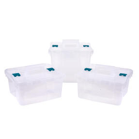 Beldray COMBO-3050 DIY, Hobby, Cleaning Caddy with Lid, Set of 3, Small / Large, Clear Thumbnail 10