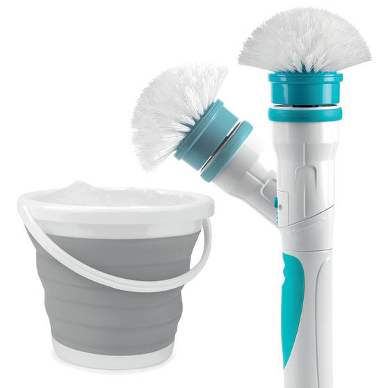 Beldray Cordless Scrubber Pro with Grey Collapsible Bucket