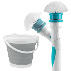 Beldray COMBO-3185 Cordless Scrubber Pro with Grey Collapsible Bucket Thumbnail 1
