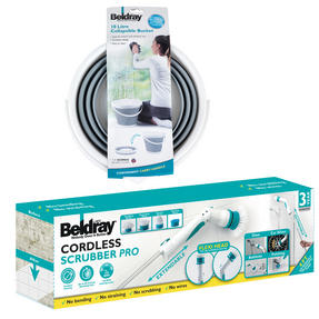 Beldray COMBO-3185 Cordless Scrubber Pro with Grey Collapsible Bucket Thumbnail 2